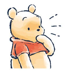 LINE Official Stickers - Winnie the Pooh & Christopher Robin Example with GIF Animation Whinnie The Pooh Drawings, Winnie The Pooh Cartoon, Cute Winnie The Pooh, Winnie The Pooh Quotes, Winnie The Pooh Friends, Disney Drawings, Cute Drawings, Winie The Pooh, Bear Sketch