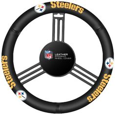 NFL Pittsburgh Steelers Leather Steering Wheel Cover - http://www.caraccessoriesonlinemarket.com/nfl-pittsburgh-steelers-leather-steering-wheel-cover/  #Cover, #Leather, #Pittsburgh, #Steelers, #Steering, #Wheel #Car-Wheels, #Tires-Wheels
