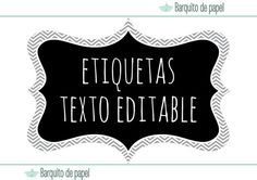 instant download printable labels ·  descarga instantanea etiquetas imprimibles · textos editables