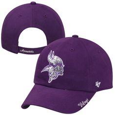 49778d1d57131 Women s Minnesota Vikings  47 Brand Purple Sparkle Clean Up Adjustable Hat