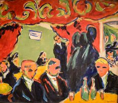 Ernst Ludwig Kirchner - Tavern, 1909 at Saint Louis Art Museum - St Louis MO Emil Nolde, Ernst Ludwig Kirchner, Kandinsky, Dresden, Paul Klee, Karl Schmidt Rottluff, Expressionist Artists, Van Gogh, Art History