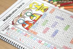 Are you looking for ways to make multiplication fun for your students? Turn math into a game and have your students multiply with the Multiplication Search NO PREP Packet! Math For Kids, Fun Math, Math Multiplication Games, Bad Education, Homeschool Math, Homeschooling, Math Lessons, Math Tips, Phonics Activities