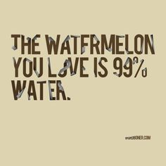 the watermelon you love is 99% water.