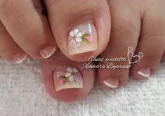 Manicure And Pedicure, Baby Shower, Floral, Flowers, Beauty, Instagram, Finger Nails, Vestidos, Toenails Painted