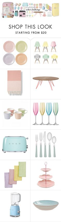 """pastel kitchen"" by krystalina123 ❤ liked on Polyvore featuring interior, interiors, interior design, home, home decor, interior decorating, Royal Doulton, Ciel, Baksana and LSA International"