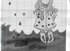 Patrón Gorjuss niña con paraguas.