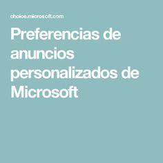 Preferencias de anuncios personalizados de Microsoft