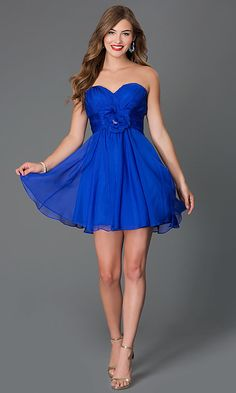 Short Corset-Back Sweetheart Party Dress -PromGirl Black Prom Dresses, Casual Summer Dresses, Strapless Dress Formal, Short Dresses, Sweet Sixteen Dresses, Informal Wedding Dresses, Mini Skirt Dress, Sweetheart Dress, Lingerie