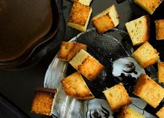Oooh Pound cake croutons! lol