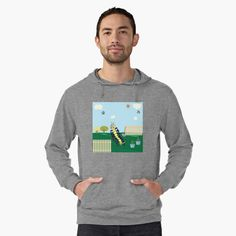 'Captain Caitlyn In The Backyard Garden' Lightweight Hoodie by MclaughlinGifts Stylish Hoodies, Pvc Pipe Projects, Naruto Shippuden, London England, Happy Valentines Day, Kakashi, V Neck T Shirt, Chiffon Tops, Classic T Shirts