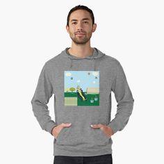 'Captain Caitlyn In The Backyard Garden' Lightweight Hoodie by MclaughlinGifts Stylish Hoodies, Naruto Shippuden, London England, Happy Valentines Day, Kakashi, V Neck T Shirt, Chiffon Tops, Classic T Shirts, Men Sweater