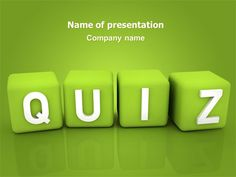 Free Yellow Quiz Powerpoint Template With Yellow Background And