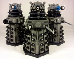 Classic Doctor Who Daleks Created in LEGO