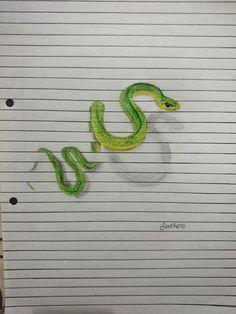 #Iantha_Naicker #snake #animal #painting #drawing #illustration #scratch #creative #innovation