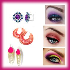 """""""earrings and eyes"""" by flsweet82 on Polyvore"""