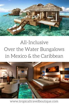 No need to go to Tahiti! Gorgeous over the water bungalows are now available in Mexico and the Caribbean. Click through to find out which resorts offer these most luxurious accommodations. Vacation Places, Vacation Destinations, Vacation Trips, Dream Vacations, Vacation Spots, Places To Travel, Romantic Vacations, Romantic Travel, Greece Vacation