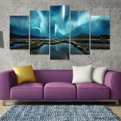 Two Options: No Frame Means Print Only Frame comes stretched, framed, and ready to hang! Difference Between Framed and Unframed: Canvas Frame, Canvas Wall Art, Canvas Prints, Canvas Walls, Modern Wall Art, Large Wall Art, Northen Lights, Aurora Borealis, House Painting