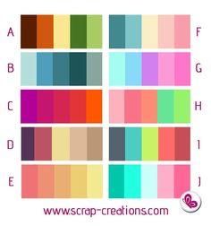 Combinar colores Gerard Butler House, Colour Story, Color Pallets, Color Mixing, Crochet Ideas, Color Combos, Sketch, Mandalas, Plants
