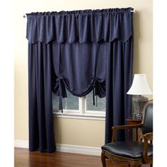 A Little Innovation with Tie up Curtains | Drapery Room Ideas