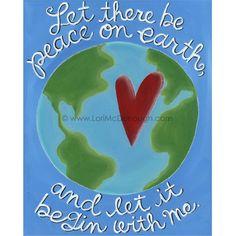 Peace on earth. $18,00, via Etsy.