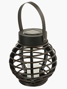 Solar Rattan Micro Basket by Paradise Garden Lighting. So easy to incorporate into any yard. Would love to get 3 of them ascending down my back steps! Led Lantern, Lanterns, Back Steps, Paradise Garden, Flameless Candles, Rattan, Solar, Wax, Basket