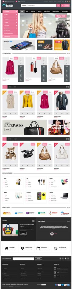 Best Mega Store Responsive #Magento Theme #eCommerce #website #design