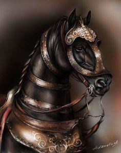 Battle Horses Paintings | War horse by adanethiel on deviantART