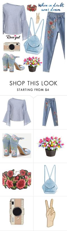 """""""59. Flower print Rosegal"""" by wannanna ❤ liked on Polyvore featuring Improvements, MANU Atelier, Kate Spade and Lucky Brand"""