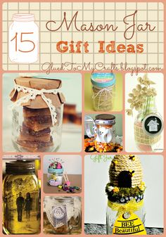 15 Mason Jar Gift Ideas {Roundup}