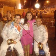 Con i campioni paralimpici Andrea Pellegrini ed Edoardo Giordan