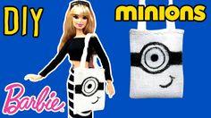 DIY - How to Make Barbie Doll Minions Bag - Barbie Tote Bag -Making Kids...