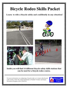 15 page Google doc all about having a Bicycle Rodeo.  Great idea to use for a Cub Scout Bike Rodeo.  A bicycle rodeo is more than just an obstacle course.  A bicycle rodeo should be used to teach bicyclists the real world skills they will need to ride a bicycle safely.  whether riding on the sidewalk, the street or a path.  Bicycle safety skills should be properly demonstrated and discussed as to why they are important...