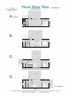 Pienen Oman Talon jalanjälki on pieni, rakennuksen ulkomitat ovat 3,5 x 10,8 m. Talo vaatii maapinta-alaa tontilla vain noin 12 x 16 metriä.