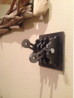 Make your home as unique as you are with this steampunk-style double wall switch cover with levers. Just flip the metal levers to turn lights on and