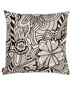 Missoni Home Black Orelle Floral Cushion | Cushions and Throws by Missoni | Liberty.co.uk #LibertyGifts #LibertyHome