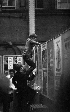"""Filming the opening sequence of """"A Hard Day's Night"""" April The Beatles 1, Beatles Band, John Lennon Beatles, Beatles Photos, Jhon Lennon, Great Bands, Cool Bands, A Hard Days Night, The Beatles"""
