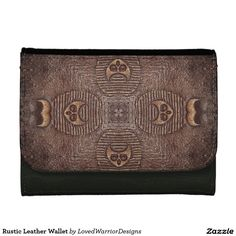 Shop Rustic Leather Wallet created by LovedWarriorDesigns. Leather Design, Leather Wallet, Rustic, Products, Country Primitive, Rustic Feel, Retro, Farmhouse Style, Primitives