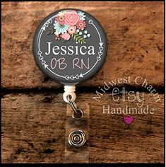 Retractable badge holder, nurse gift, ob, L Personalized Gifts For Nurses, Personalized Christmas Gifts, Grad Gifts, Nurse Gifts, Gifts For Nurses Graduation, Id Holder, Badge Holders, Nursing Student Gifts, Nursing Schools