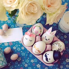 Pinterest style Easter eggs