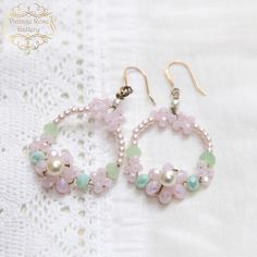 Items similar to Spring Earrings, Pink Shabby Chic Earrings, Pink - Mint Vintage style earrings, Romantic earrings, Bridal Earrings by VintageRoseGallery on Etsy Vintage Pearls, Vintage Pink, Etsy Vintage, Vintage Style, Vintage Shops, Shabby Chic Earrings, Shabby Chic Jewelry, Etsy Jewelry, Jewelry Art