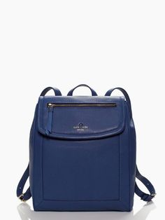 here's the truly genius thing about this luxe, pebbled leather backpack: you can carry it like a sporty handbag by its top handle and then when you've got a lot to carry, employ the hands free-option (december 2014)