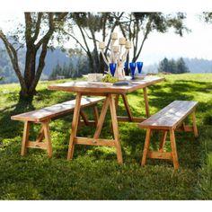 Teak Four-Season Table and Bench | VivaTerra