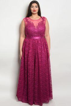 25abd2337610 S11-16-1-d24061x magenta plus size dress 2-2-2