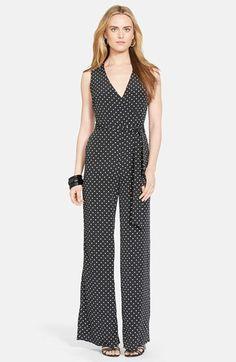 Lauren Ralph Lauren Polka Dot Sleeveless Jumpsuit available at #Nordstrom