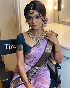 Indian Bridal Sarees, Bridal Silk Saree, Saree Wedding, Wedding Updo, Indian Wedding Bride, South Indian Bride, Indian Wedding Outfits, South Indian Blouse Designs, South Indian Silk Saree