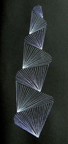 Borduren op papier, embroidery on paper