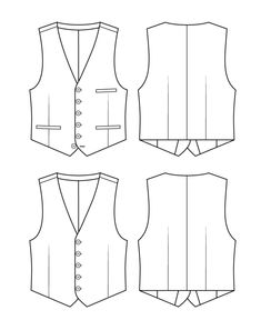 Flat Drawings, Flat Sketches, Dress Sketches, Mens Suit Vest, Men's Waistcoat, Jeans Drawing, Suit Drawing, Gilet Costume, Blazer Outfits Men