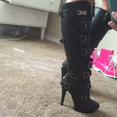 Dominatrix boots Love love love them but I never wear them Shoes