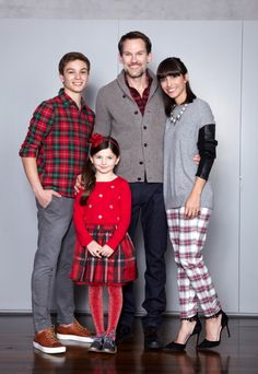 "On Dad: Flannel shirt, $35 at gap.com. Cardigan, $148 at jcrew.com. ""The Classic…"