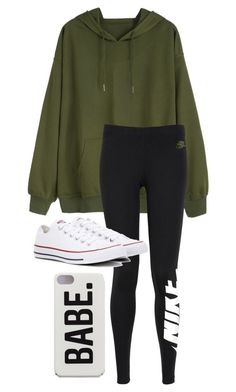 """January 3"" by kaceyff on Polyvore featuring NIKE and Converse"